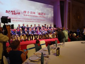 The Veterans Being Awarded Honorary Citizenship in Kunming