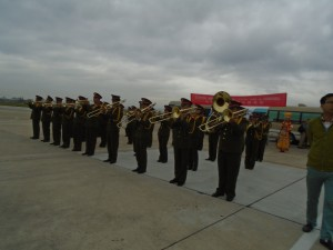 Marching Band Greeting Us in Baoshan