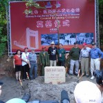 Breaking ground at the new WW2 Museum at the Huitong Bridge