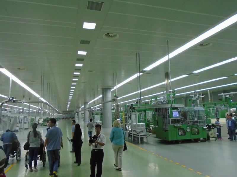Touring a cigarette factory in Dali