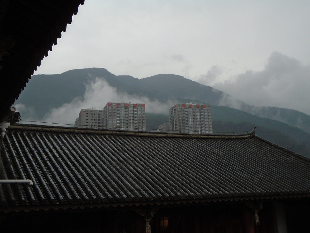 A view of the mountains from the tea museum